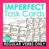 Regular Imperfect Tense Verbs Spanish Task Cards