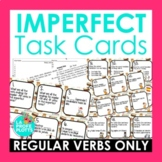 48 Imperfect Tense Task Cards (REGULAR VERBS ONLY) | Spani