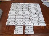 48 Laminated How To Tell Time themed Flash Cards.  Preschool Picture Number Card