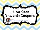 48 No-Cost Rewards Coupons- Blue & Yellow Chevron