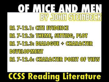 "48 ""Of Mice and Men"" Task Cards: Critical Thinking + Creativity + Engagement"
