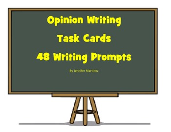 48 Opinion Writing Task Cards