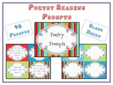 48 Poetry Reading Prompts - Response Cards - Common Core Centers Guided Reading