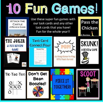 48 Predicate Noun Task Cards! Perfect for Learning Stations! Includes 10 Games!