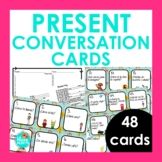 48 Present Tense Conversation Cards for Spanish Class | Sp