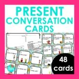 Present Tense Conversation Cards for Spanish Class | Speak