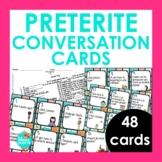 48 Preterite Tense Conversation Cards for Spanish Class