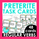 48 Spanish Preterite Tense Task Cards (REGULAR VERBS ONLY)