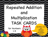 48 Repeated Addition and Multiplication Task Cards for Math
