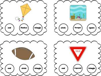 48 Shapes Clothespin Task Cards