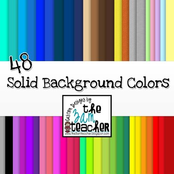 48 Solid Background Colors