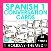 Spanish Christmas Activity - Spanish 1 Conversation Cards | Speaking Activity