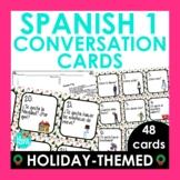 Spanish Christmas Activity - Spanish 1 Conversation Cards