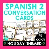Spanish Christmas Activity | 48 Spanish 2 Conversation Cards | Speaking Activity