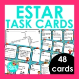 ESTAR Task Cards | Spanish Review Activity | 48 Cards