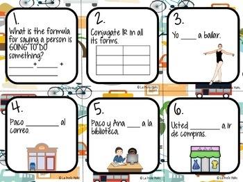 48 Spanish El Verbo IR (To Go) Task Cards