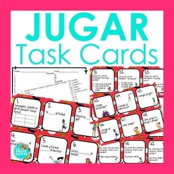 Spanish El Verbo JUGAR Task Cards