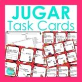 JUGAR Task Cards   Spanish Review Activity