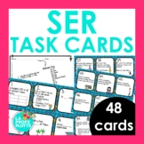 SER Spanish Task Cards | Spanish Review Activity | 48 Cards