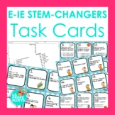 48 Spanish Present Tense E-IE Stem-changers Task Cards