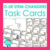 O-UE Present Tense Stem-changers Task Cards   Spanish Revi