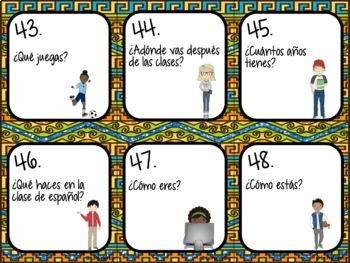 48 Spanish Present Tense Task Cards (Regulars & IR, ESTAR, JUGAR, TENER y SER)