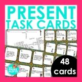 48 Spanish Present Tense Task Cards (Regulars & IR, ESTAR,