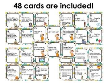 Spanish Preterite vs. Imperfect Task Cards