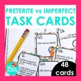 48 Spanish Preterite vs. Imperfect Task Cards
