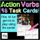 48 Task Cards & 10 Games for Action Verbs - For review