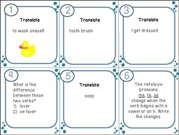 48 Task Cards Bien Dit 2 Chapter 5.1