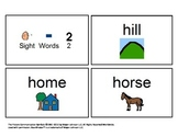 48 Visual (BOARDMAKER) Sight Words Flashcards for Autism o