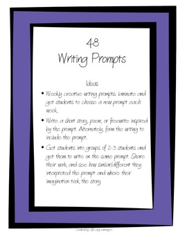 48 Writing Prompts