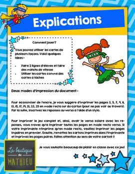 48 cartes éclair des termes manquants (+ et -) [Missing addends] [French]