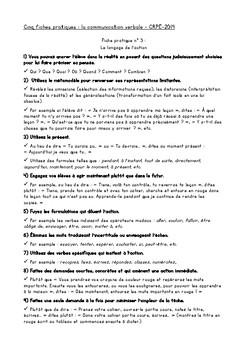 48 techniques de communication pédagogique - 5 fiches de communication verbale