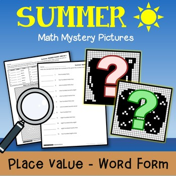 Summer Word Form Coloring Pages