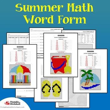 Word Form Standard Form Matching Summer Place Value Activity Color Math Picture