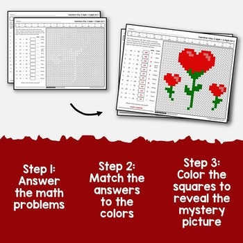 Valentine's Day 2 Digit Addition Coloring Pages