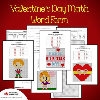 Valentine's Day Word Form Coloring Pages