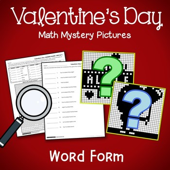 Mystery Color By Place Value Valentine Theme, February Math 4th Grade, 3rd