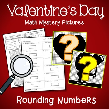 Valentine's Day Rounding Numbers Coloring Pages