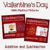 Valentine's Day Addition and Subtraction Coloring Pages