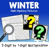 Double And Single Digit Multiplication Color By Number Winter 4th Grade Math