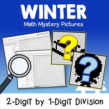 Winter 2-Digit by 1-Digit Division Coloring Pages