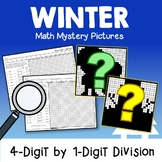 Color By Number Long Division Math Worksheets Winter Fun Sheets