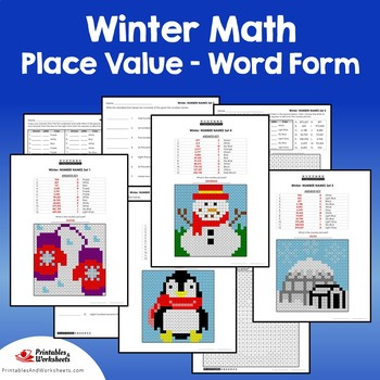 Winter Word Form Coloring Pages
