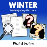 Fun Holiday Pictures Coloring, Winter Math Place Value Word Form Worksheets