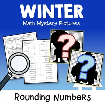 January Color By Code Winter Rounding Activities In Math Place Value Centers