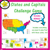 States and Capitals Challenge Game with BONUS
