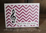 4.875 x 3.5 Music Note Folded Note Cards